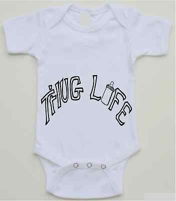 ec3336870b6 Funny baby onesie - Thug Life - Tupac inspired - 0-18 month sizes available