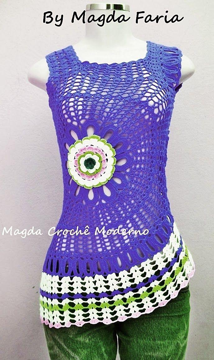 Blusa Ana Maria Braga com flor lateral colors...