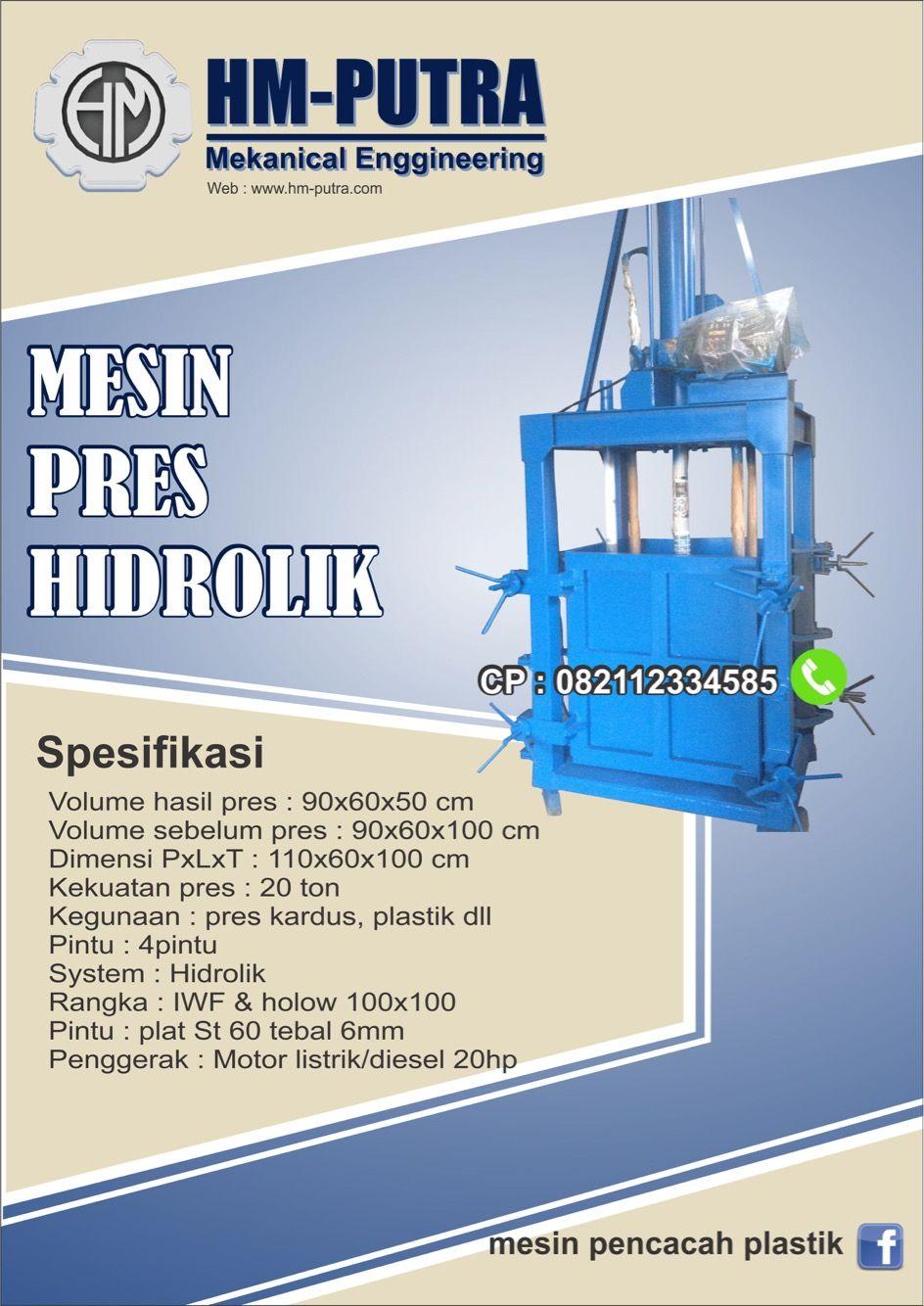 Berikut Ini Adalah Mesin Press Hidrolik Buatan Hm Putra Pin