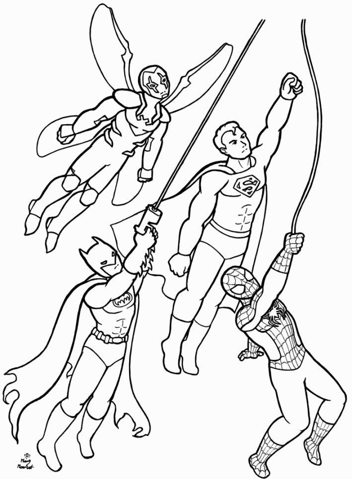 Batman Beyond Coloring Page Printable Book Sheet Online