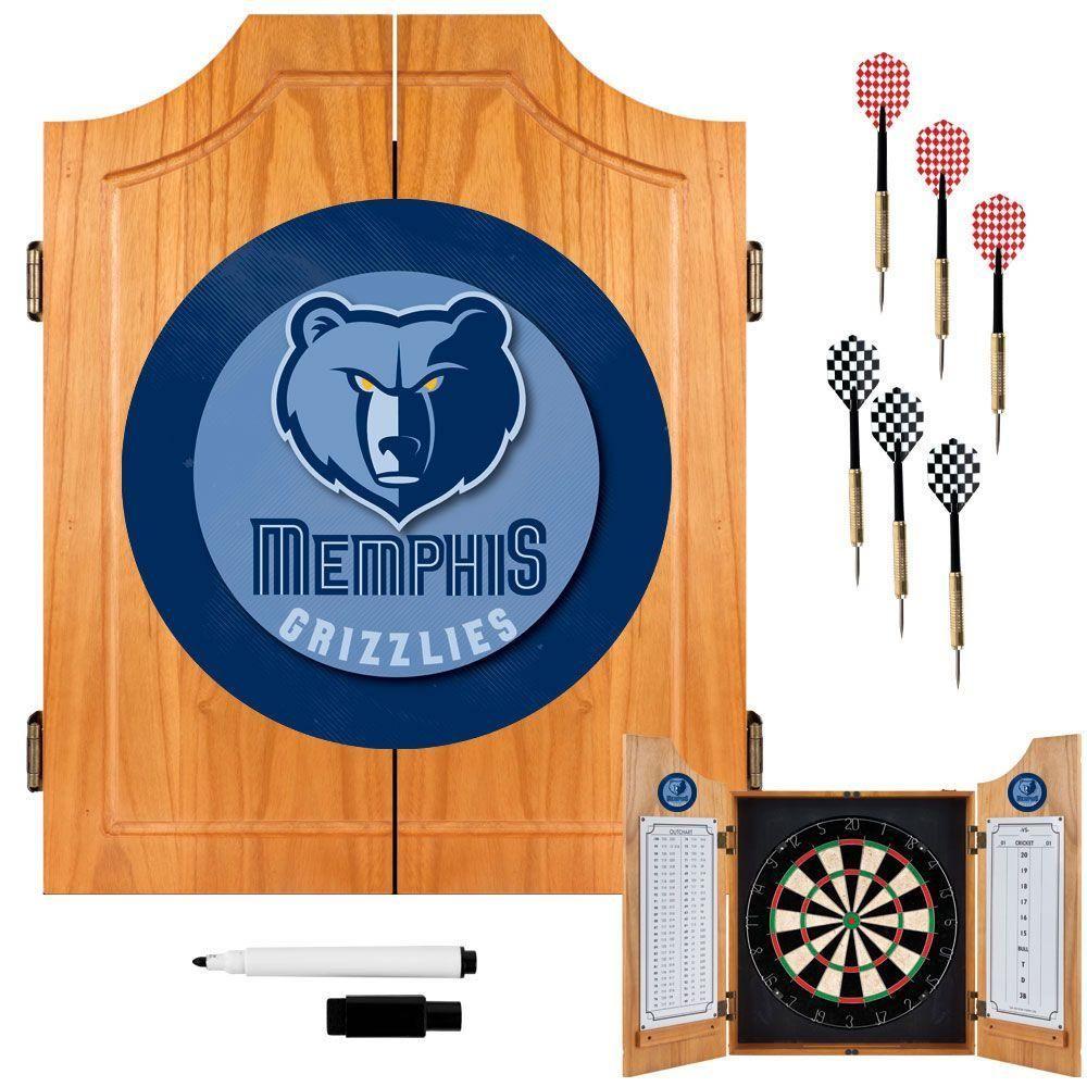 Trademark Nba Memphis Grizzlies Wood Finish Dart Cabinet Set Memphis Grizzlies Memphis Cool Things To Buy