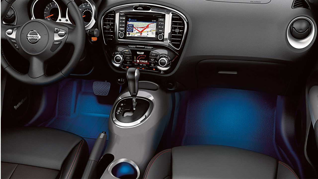 2017 Nissan Juke Interior Accent Lighting In Blue