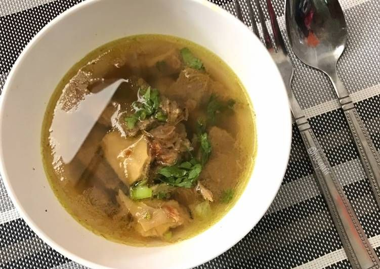 Resep Soto Sulung Daging Sapi Dan Babat Oleh Hasya Nr Resep Resep Masakan Daging Sapi Resep