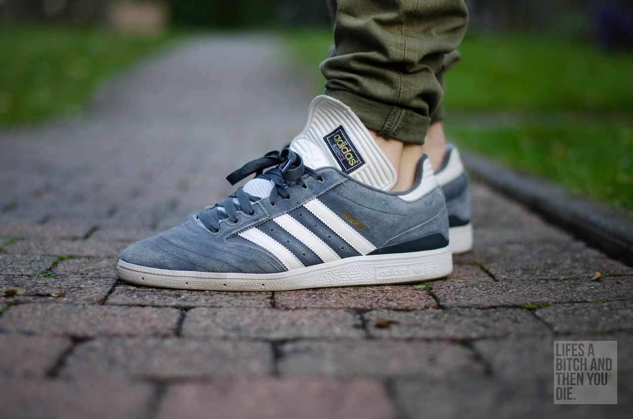 adidas Busenitz shoes white grey