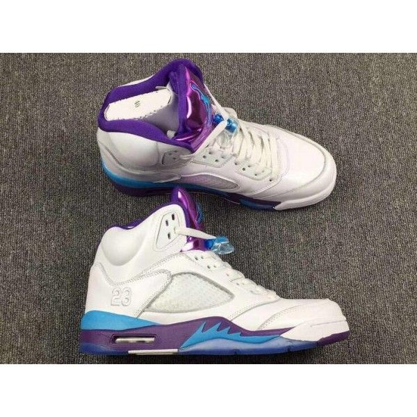 Find 2018 Air Jordan 5 Hornets White Blue Purple For Sale Online online  or in Pumaslides Shop Top Brands and the latest styles 2018 Air Jordan 5