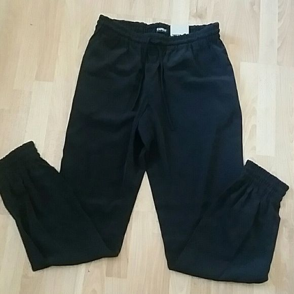 Black polyester pant/jogger/trouser New with tags. Jogger style bottoms with pockets front & back.  ** Brand is NOT Zara, listed for exposure :)  Brand is Express Zara Pants