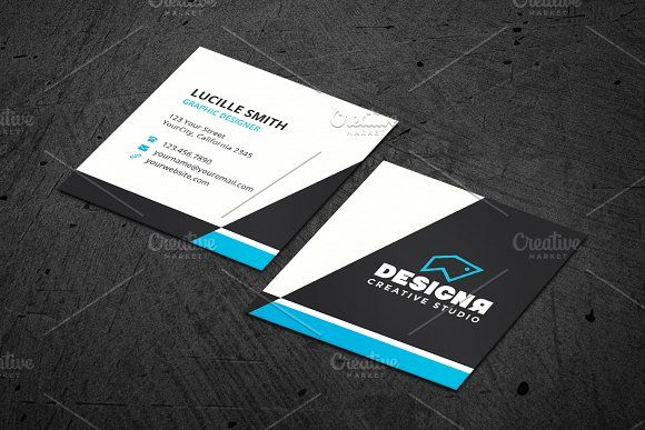 Corporate Square Business Card Business Cards Creative Templates Square Business Cards Design Business Cards Creative