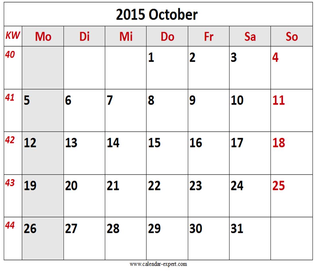 October 2015 Calendar India Printable Calendar With Holidays Calendar 2015 Calendar Template Calendar