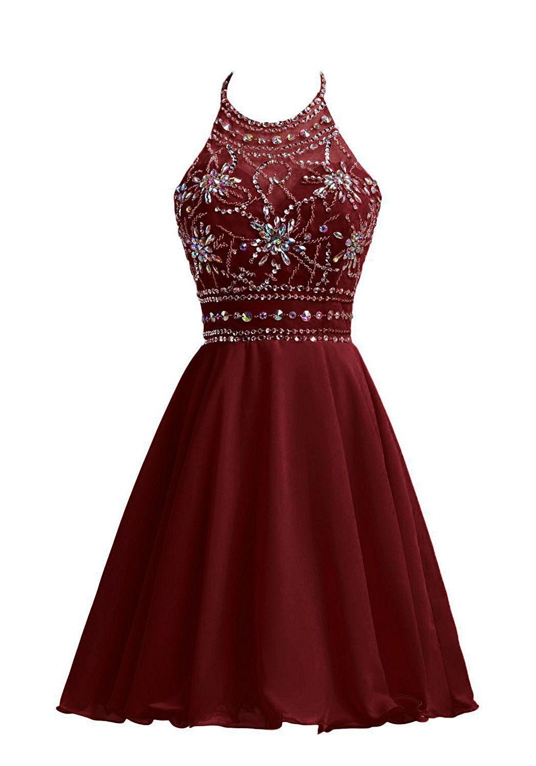 Maroon Short Homecoming Dresses
