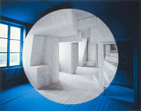 Amazingly, this is not photoshopped. Georges Rousse, photographer.