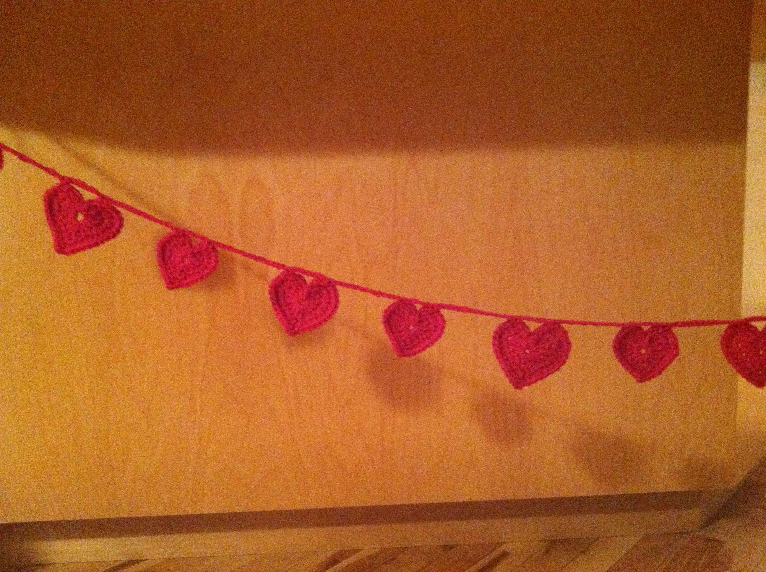 Fun heart crochet banner