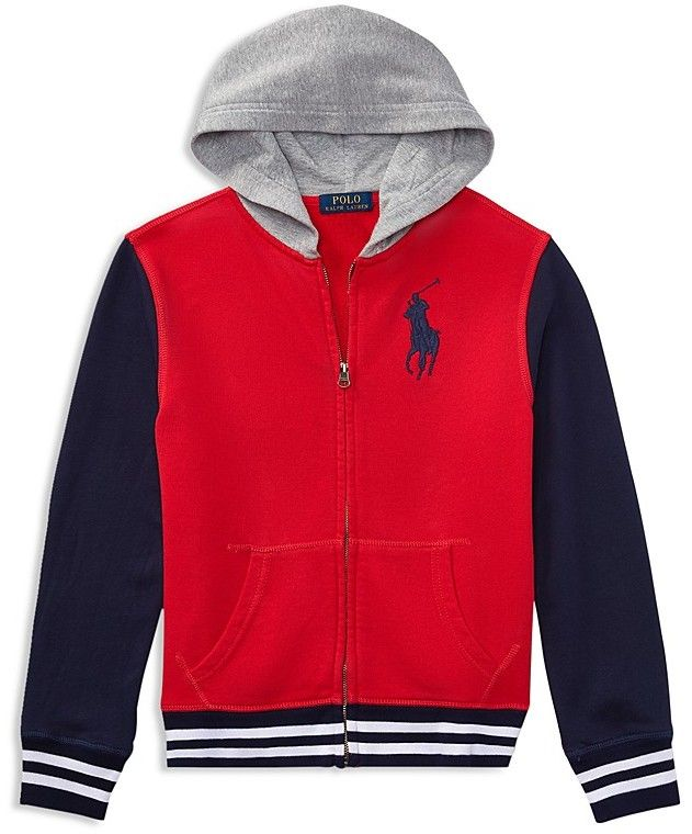 97cefbcc7 Ralph Lauren Boys  French Terry Varsity Jacket - Big Kid