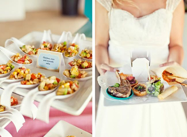 Keep Outdoor Wedding Appetizers Simple And Colorful Wedding