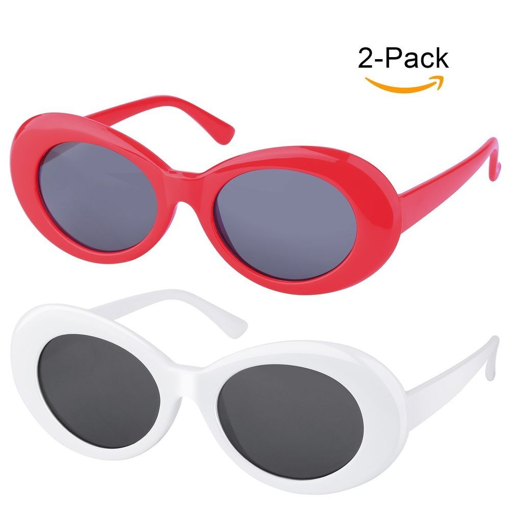 e421ad39488 Clout Goggles Unisex Sunglasses Rapper Kurt Cobain Oval Shades Grunge  Glasses  Unbranded  Round