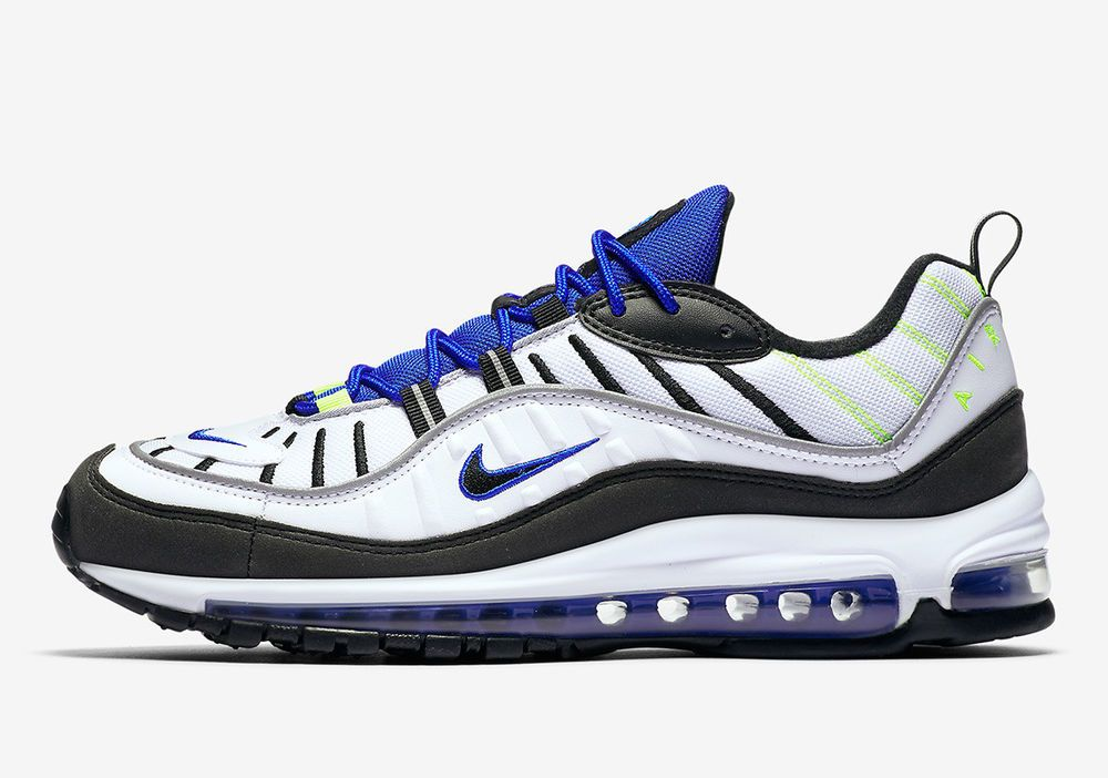 reputable site 1245e ea442 Nike Air Max 98 White Size 11 US Mens Athletic Running Shoes ...