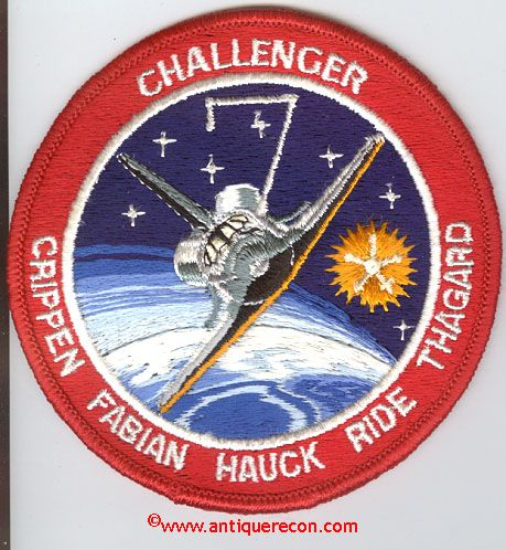 space mission patches | CHALLENGER STS-7 MISSION PATCH ...