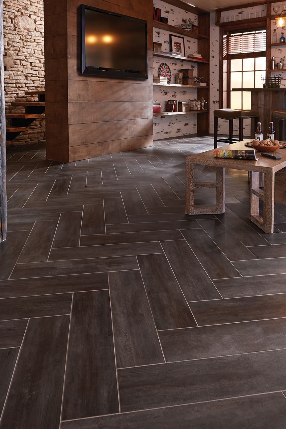 Kitchen Floor Vinyl Tiles Diy Herringbone Floor Using Peel N Stick Luxury Vinyl Tile Http