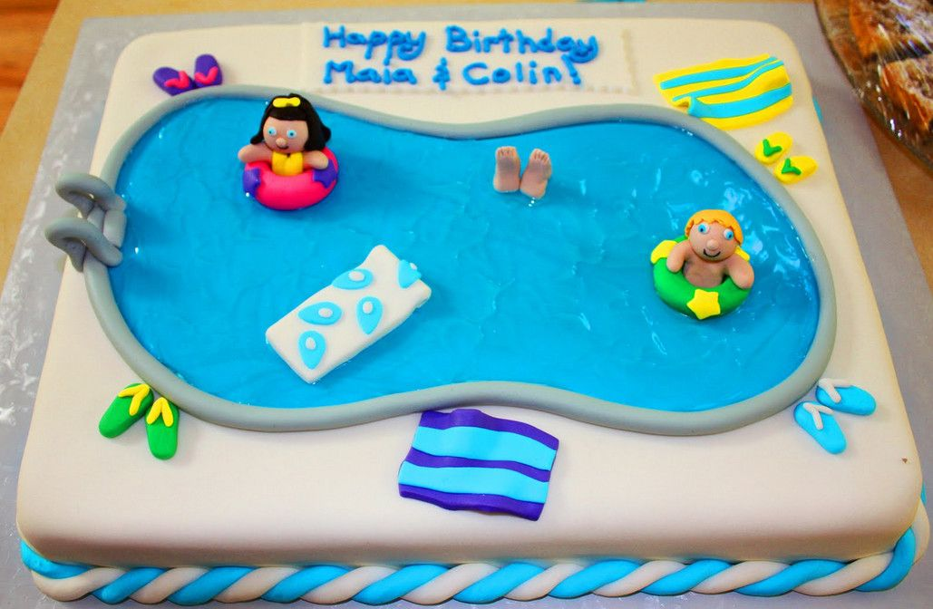 Pool Party Cake Ideas Kids Pool Design Ideas With Images