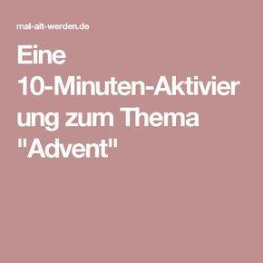 """Eine 10-Minuten-Aktivierung zum Thema """"Advent ..."""