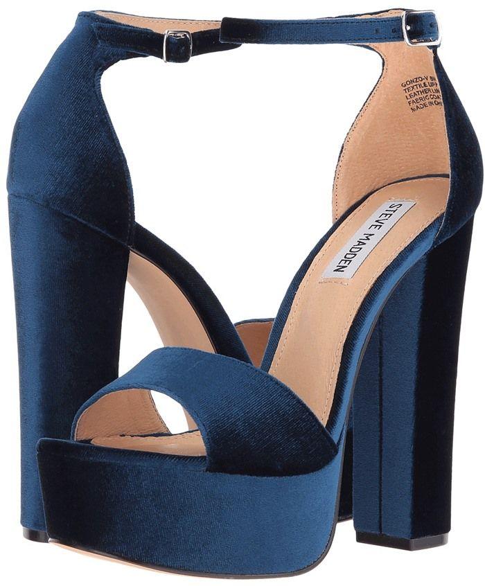"""de49cde2d9a Steve Madden """"Gonzo"""" Sandals. Steve Madden  Gonzo  Platform Sandals Blue  Sandals Heels ..."""