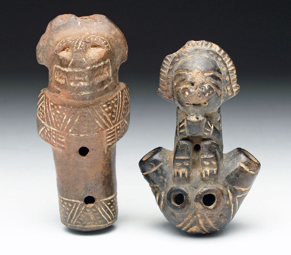 Pair of Tairona Pottery Miniatures