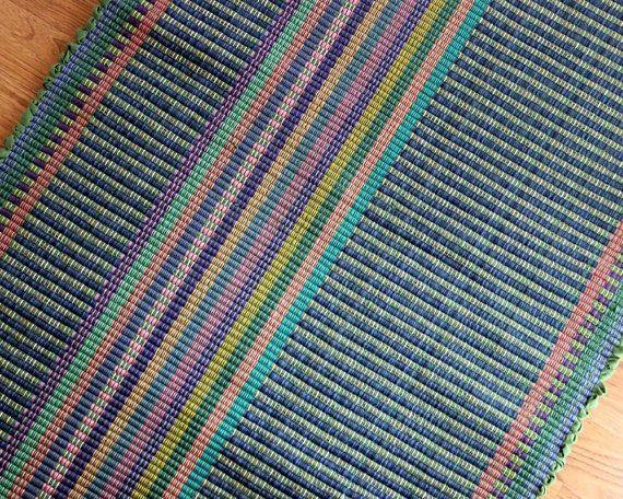 Handmade Cotton Rag Rug Runner 2 X 6