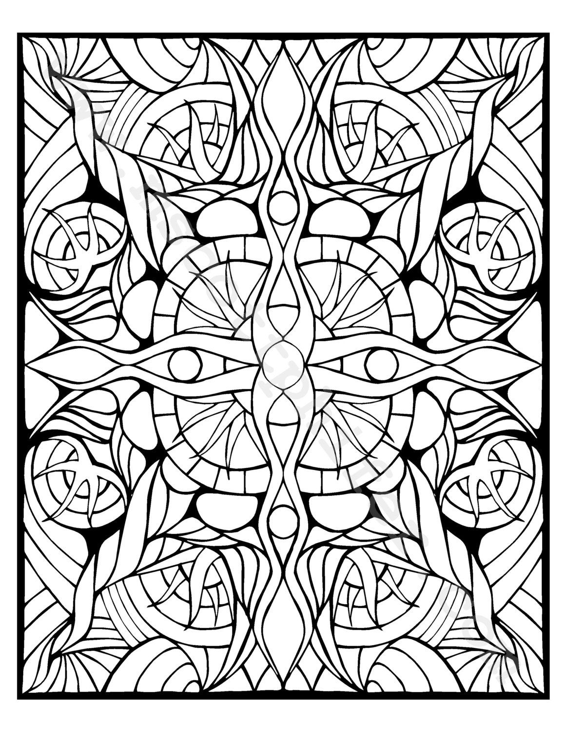 Coloring Page Tentacles by BrokenCrayonWorks on Etsy | mandalas ...