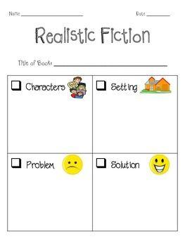 Realistic Fiction Graphic Organizer Best Of Teachers Tieplay