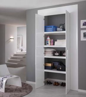 Come ricavare un ripostiglio in casa: porte per armadi a muro ...