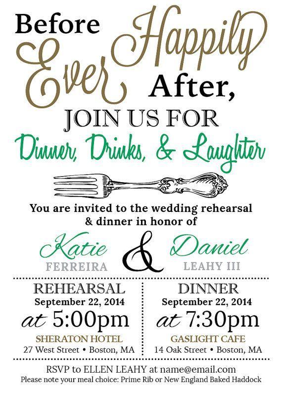 5x7 Customized Wedding Rehearsal Dinner Invitation - Digital File