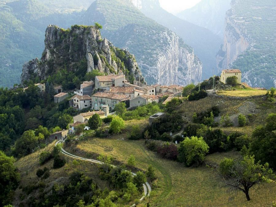 A Mountain Village Rougon France Wonders Of The World Places To Go South Of France