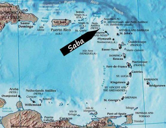 Saba Dutch Caribbean  wwwsabatourismcom  Saba  Maps