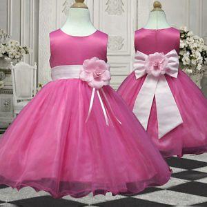 UKMD58 Pink Flower Girls Wedding Pageant Dress 1,2,3,4,5,6,7,8,9,10,11-13 Yrs
