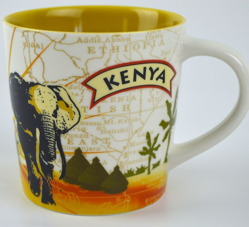 Elephant 2011 Yummy Starbucks Oz Kenya Coffee 10 Map Series African wPXnO80k