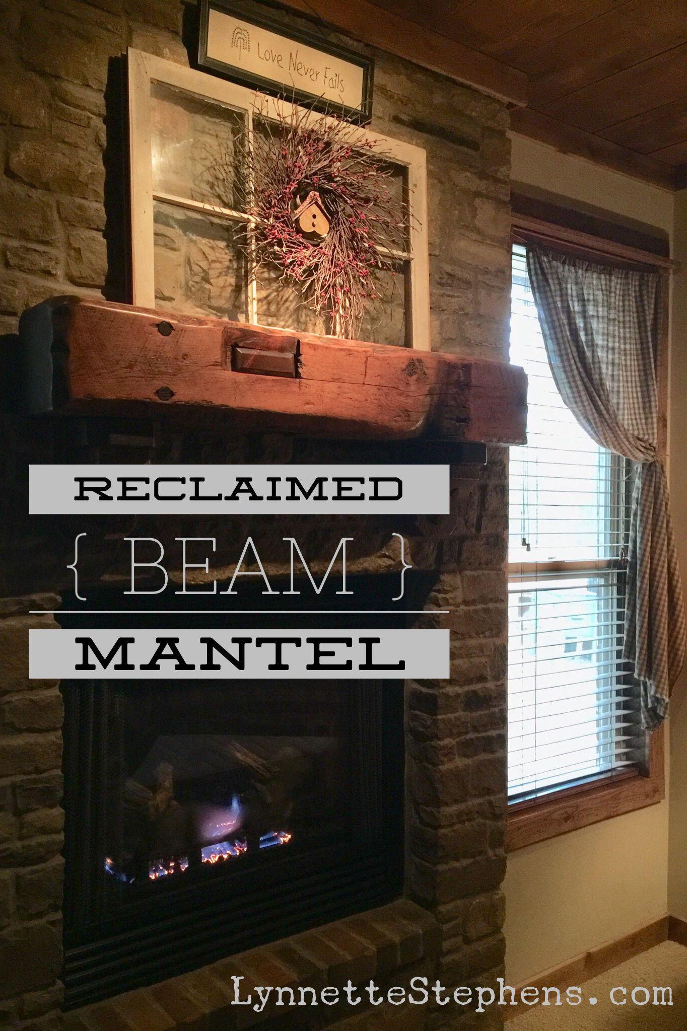 The Mantel In Our Master Bedroom Is A Reclaimed Beam From An Old Barn I Absolutely Love The Character Of It Metal Barn Homes Fireplace Mantel Decor