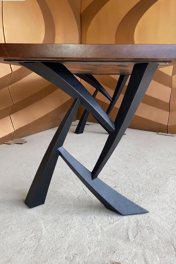 Metal Table Legs (set of 2) Modern industrial dining table ...