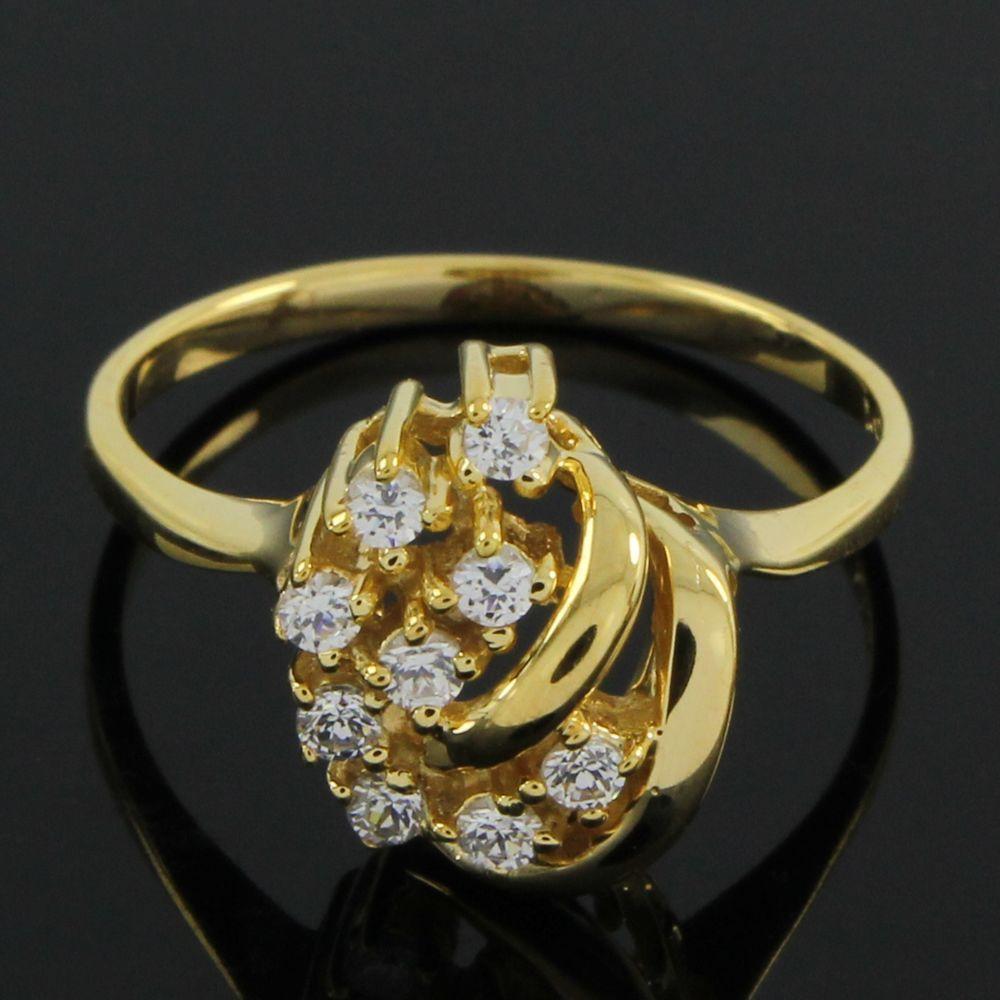 18Kt Gold Over0.54ct Round Cut VVS Diamond Channel SetFashion Wedding Ring E161 #FashionRing