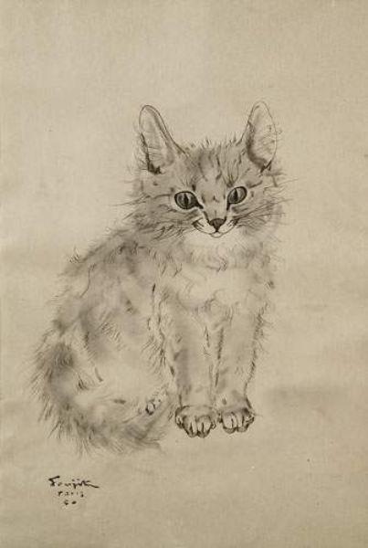 Leonard Tsuguharu Foujita 1886 1968 Cats Illustration Cat Art