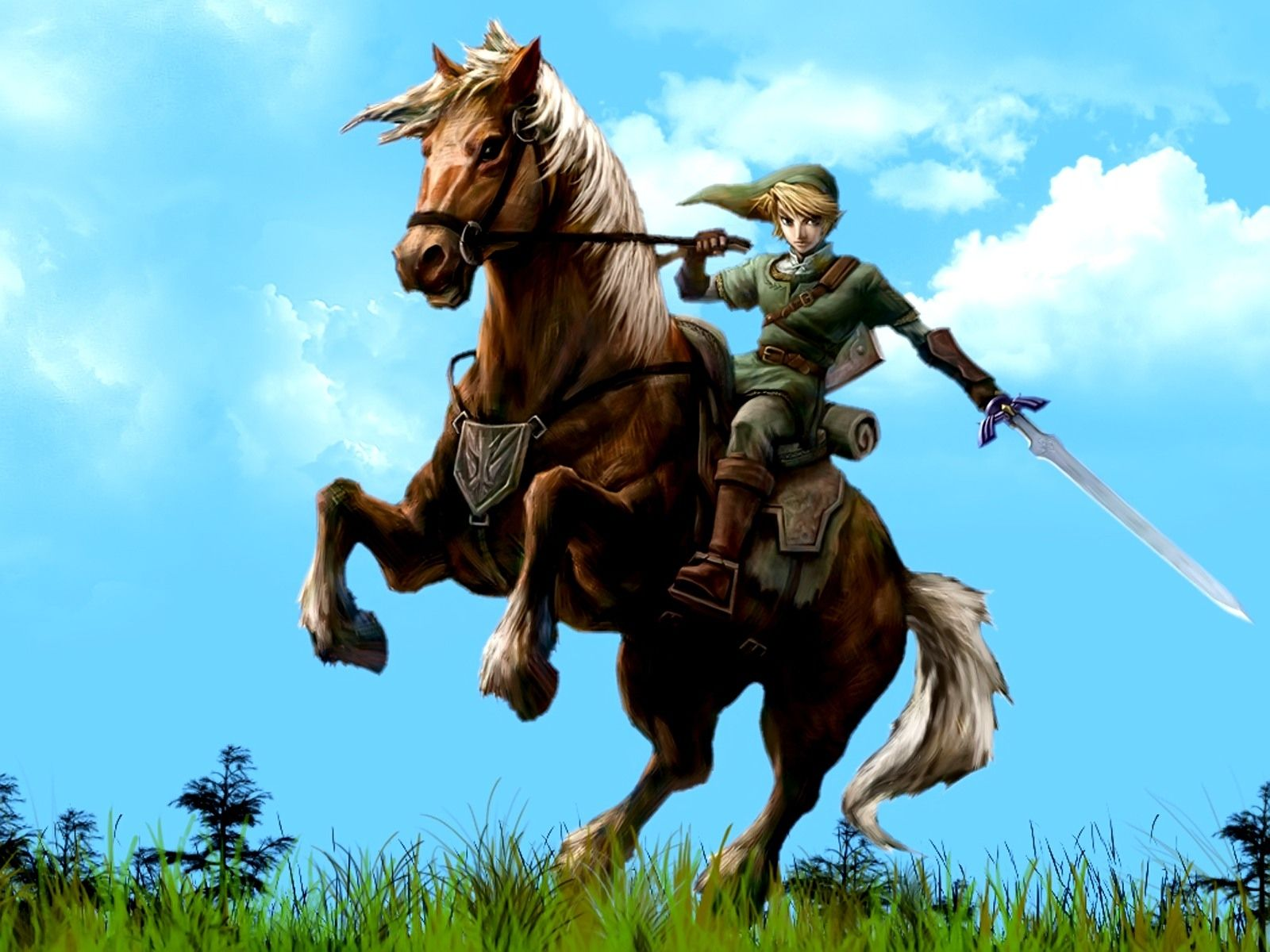 Link and Epona from The Legend of Zelda Legend of zelda
