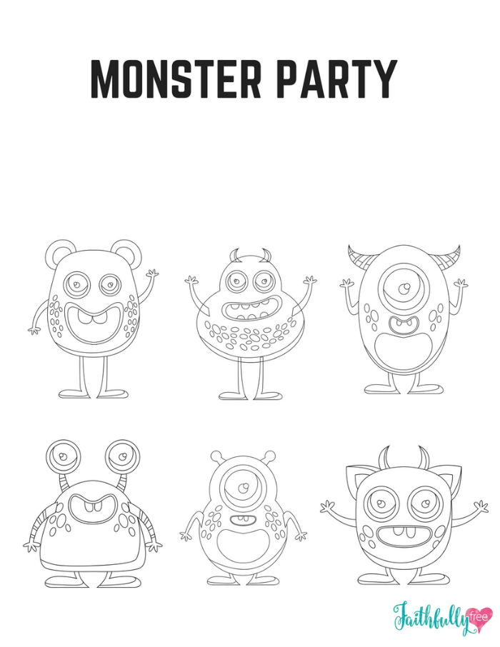 Stunning Monsters Coloring Pages Printable Gallery - New Coloring ...