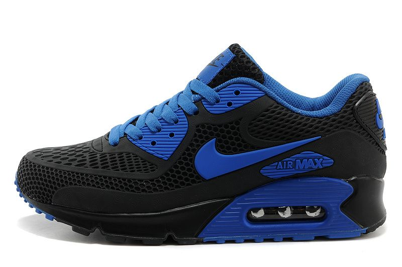 Discount Authentic Mens Nike Air Max 90 Black/Blue