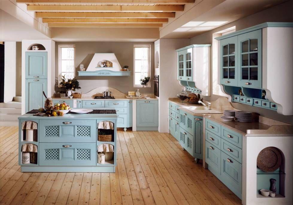 Cucine in muratura rustiche e moderne cucina in muratura azzurra cucine cassetti e design - Cassetti per cucine in muratura ...