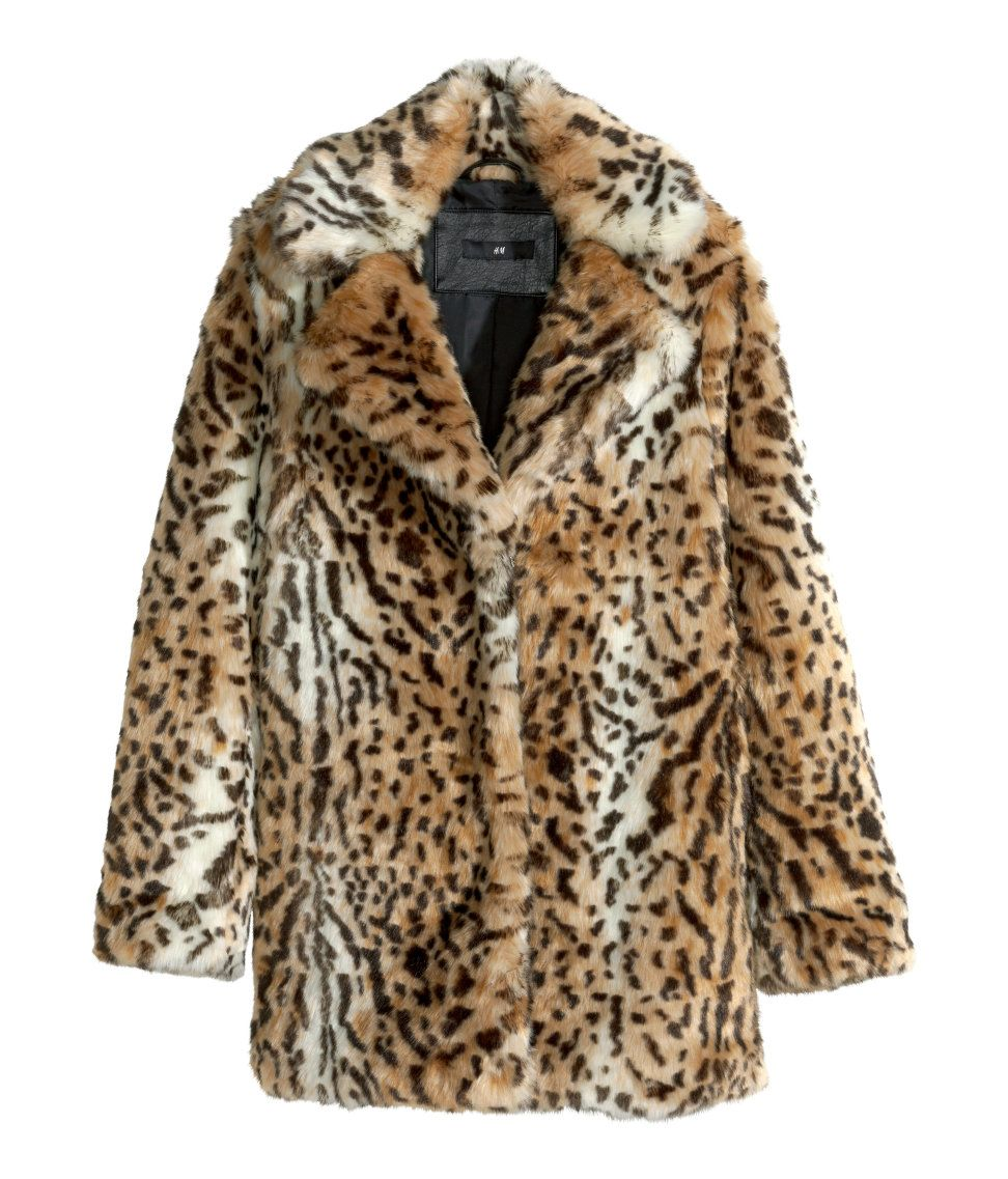 Unleash your wild side with this leopard-print faux fur jacket.   Warm in  H M 9fff6a07cd55