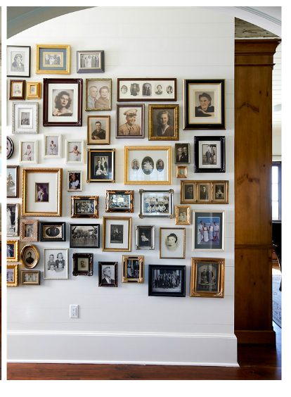 Vintage Photo Collection Old Family Photos Pictures Frames On Wall Collage