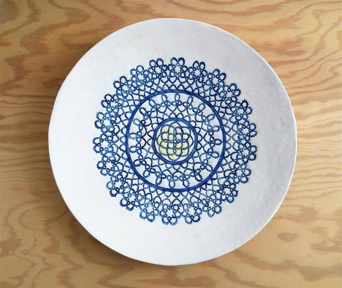 Popular Wand Keramik Teller Wand Deko Kunst Wand Skulptur Mandala Platte Shabby Chic