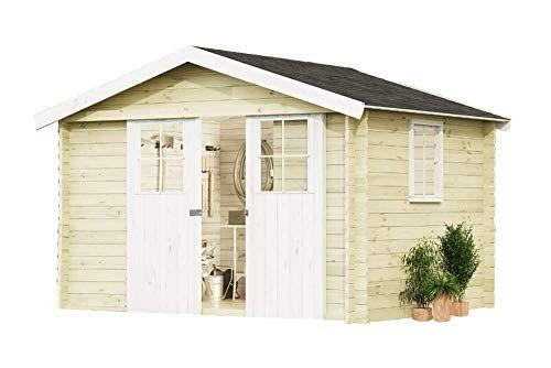 Alpholz Gartenhaus EVERE aus FichtenHolz Gartenhütte