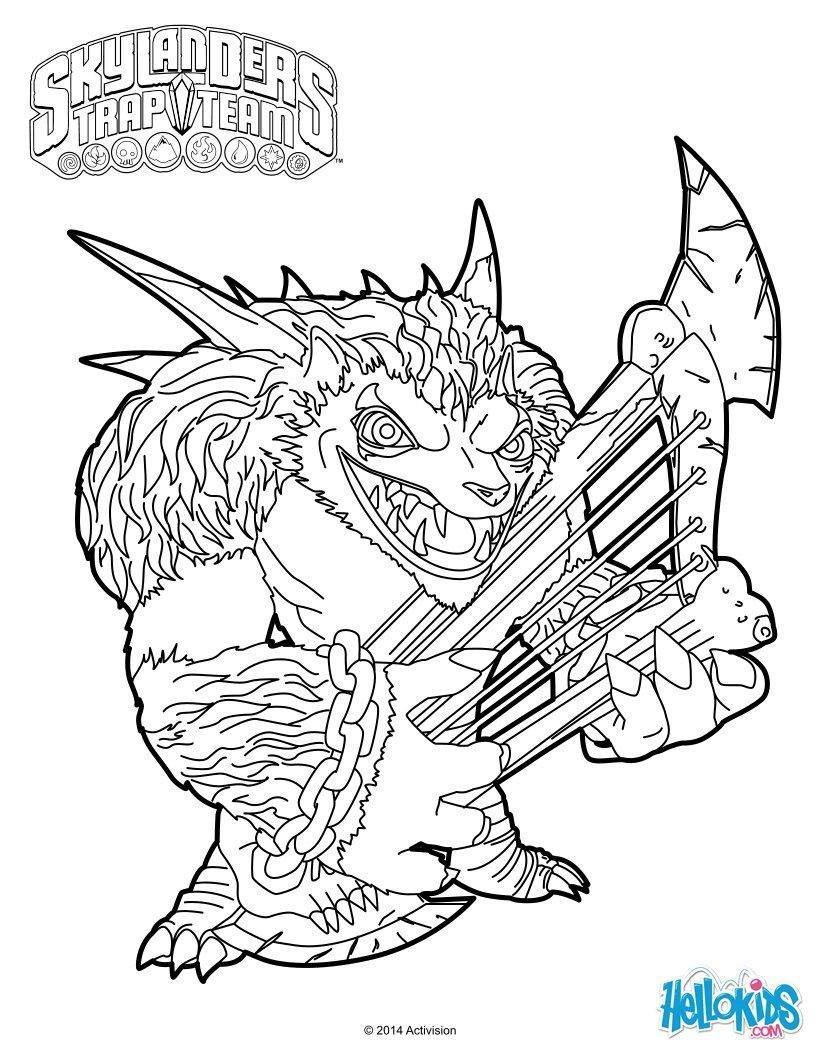 Wolfgang Coloring Page From Skylanders Trap Team Video Game. More Skylanders  Coloring Sheets On Hellokids