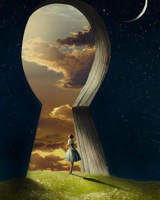 There is no key to happiness. The good news is, the door isn't locked!!! (Image: Kinga Britschgi)