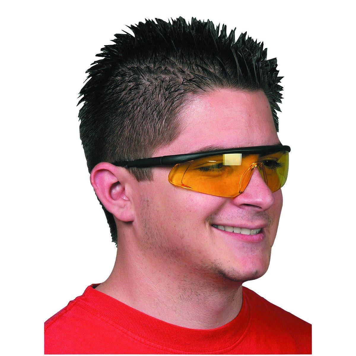 Yellow lens safety glasses glasses polycarbonate lenses