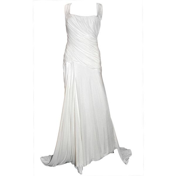 Preowned New Versace White Gown (£3,055) ❤ liked on Polyvore ...